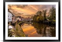 Sunset along the River, Framed Mounted Print