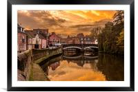 Norwich River Sunset, Framed Mounted Print