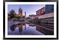 Norwich City Reflections, Framed Mounted Print