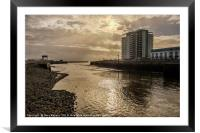 The Mouth of the Tawe, Framed Mounted Print