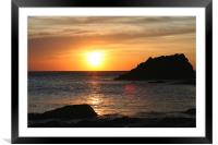 sunset on lleyn peninsula, Framed Mounted Print