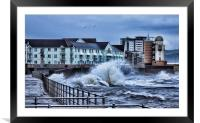Stormy Weather at the Bay., Framed Mounted Print