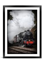 Mid Wales Steam Locomotive., Framed Mounted Print