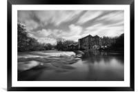 top weir saltaire mono, Framed Mounted Print