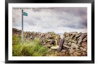 Derbyshire Path, Framed Mounted Print