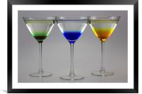 Colourful Cocktails, Framed Mounted Print