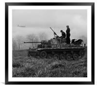 Panzer II (b/w), Framed Mounted Print