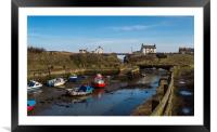 Seaton Sluice Harbour, Framed Mounted Print