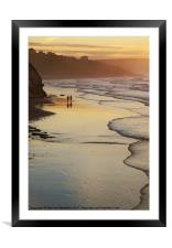 Stroll in evening light, Framed Mounted Print
