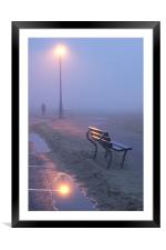 Light & Mist, Framed Mounted Print