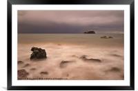 Bass Rock from Seacliff Beach, Framed Mounted Print