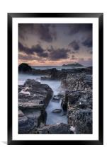 The Lighthouse Waters, Framed Mounted Print