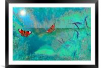 The pond, Framed Mounted Print