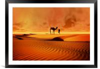 The Bedouin, Framed Mounted Print