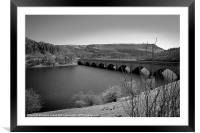 Ashopton Viaduct, Ladybower Reservoir, Framed Mounted Print