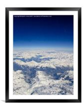 Southern Alps from 38000 feet, Framed Mounted Print