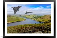 Vee Force over the Valley, Framed Mounted Print