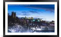 Winter comes to Edinburgh, Framed Mounted Print