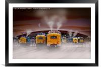 "Deltics -""Napiers in the Mist"", Framed Mounted Print"