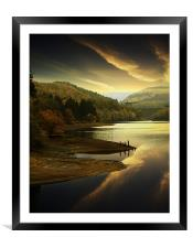 Solitude, Framed Mounted Print