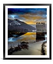 Winter comes to Howden, Framed Mounted Print