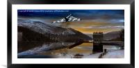 Vulcan Thunder over Howden, Framed Mounted Print