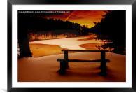Icey Dawn, Framed Mounted Print