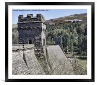 Thunder Over the Dam, Framed Mounted Print