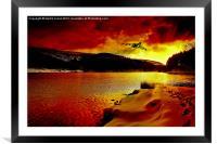 Vulcan Dawn, Framed Mounted Print