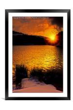 Sun Up at Derwent, Framed Mounted Print