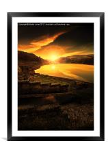 Last Light in the Valley, Framed Mounted Print