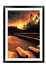 Sun Up over Howden Dam, Framed Mounted Print
