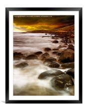 Sunrise on the Rocks, Framed Mounted Print