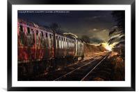 Deltic Sunset, Framed Mounted Print