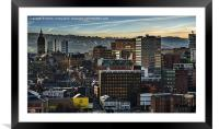 Sheffield Skyline, Framed Mounted Print