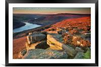 Bamford Edge Sundown, Framed Mounted Print