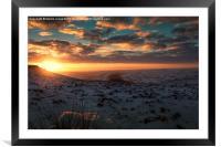 Higger Tor Winter Sunset, Framed Mounted Print