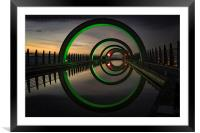 Green at the Falkirk Wheel, Framed Mounted Print