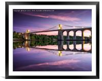 Telford's Masterpiece - Gateway to Anglesey, Framed Mounted Print