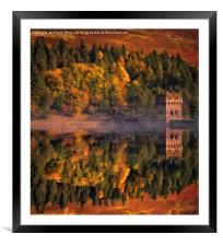 Autumn comes to Derwent, Framed Mounted Print