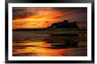 Bamburgh Reflections, Framed Mounted Print