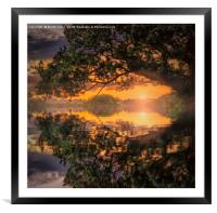Riverside Serenity, Framed Mounted Print