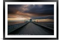 Clevedon Pier at Sunset, Framed Mounted Print