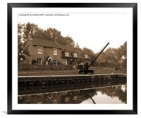 The Lock Keepers Cottage, Framed Mounted Print