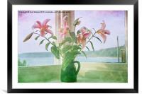 Seaside Lilies , Framed Mounted Print