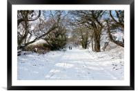 Out Walking In The Snow, Framed Mounted Print