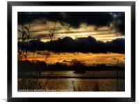 Yeadon Tarn Sunset #2, Framed Mounted Print