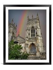 Rainbow over York Minster, Framed Mounted Print