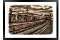 Vintage Keighley Station, Framed Mounted Print