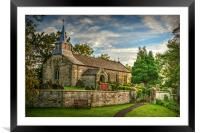 Saint Aidan's Church, Gillamoor., Framed Mounted Print